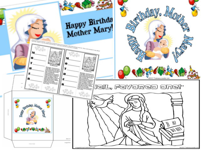 That Resource Site Happy Birthday Mother Mary Party Pack